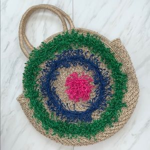 Anthropologie The Jacksons Colorful Lola Straw Bag